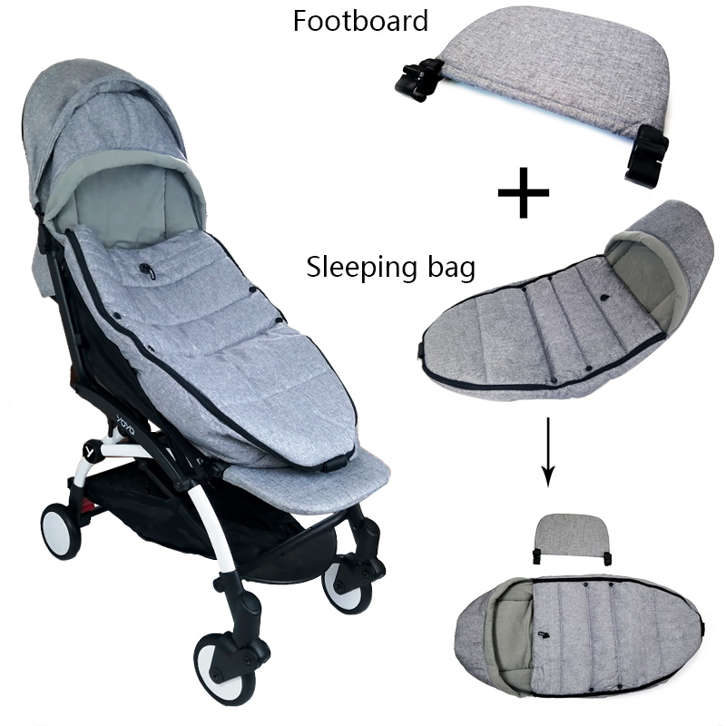 Winter Baby Stroller Sleeping Bag Windproof Cover And Carriages Extended Foot For Yoya Yoyo Baby Time Stroller Accessories
