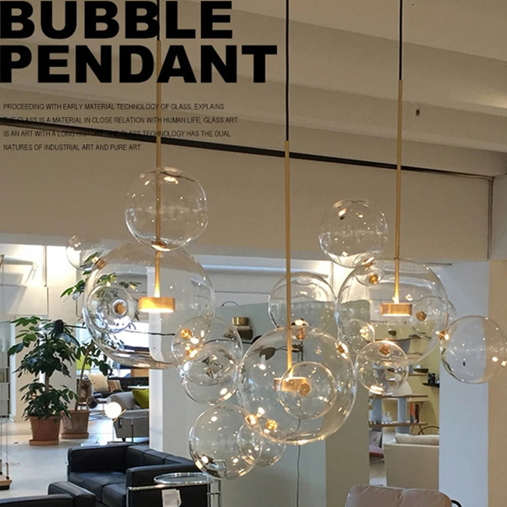 Nordic modern LED pendant lights simple style Solid wood passage restaurant bar counter coffee single head creative personality modern restaurant single head bar counter creative personality nordic retro glass lamp act the role ofing goldfish bowl