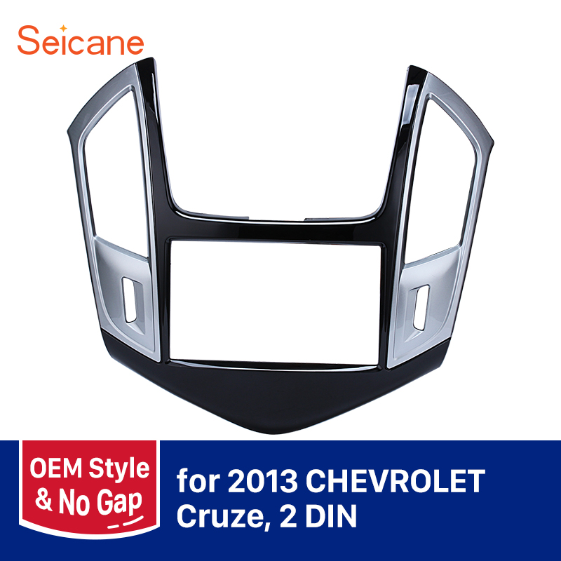Seicane 2 DIN Car Radio Fascia Frame For 2013 Chevrolet Cruze DVD Stereo Cover Plate Mount Kit Refitting Dashboard Panel все цены