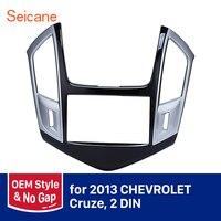Seicane 2 DIN Car Radio Fascia Frame For 2013 Chevrolet Cruze DVD Stereo Cover Plate Mount Kit Refitting Dashboard Panel
