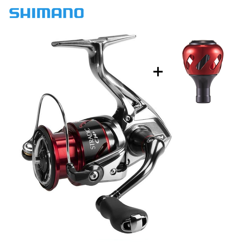 Shimano Stradic CI4+ Spinning Reel With Extra Handle Knob 1000HG 2500HG C3000HG 4000XG 6.2:1 High Gear Ratio 6+1BB Fishing Reel shimano stradic ci4 spinning reel with extra handle knob 1000hg 2500hg c3000hg 4000xg 6 2 1 high gear ratio 6 1bb fishing reel