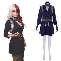Cosplaydiy Custom Made Anime My Hero Academia Shoto Todoroki Cosplay Costume Women Version Shoto Todoroki Cosplay Costume L320