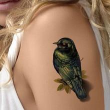 Realistic 3D Tattoo Stickers Fashion Waterproof Body Art Bird Temporary Kids Tattoos Sparrow Designs Fake Tattoo Deca
