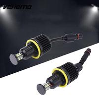 2pcs DC 12V Car LED Angel Eye Marker Light Headlight For BMW E92 Accessories 80W