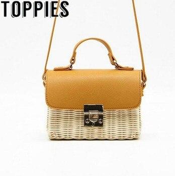 Summer Women Straw Woven Handbag Holiday Beach Rattan Bohemian Bags Vintage Handmade Women Crossbody Bags
