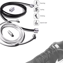 1Pair Metal lock Elastic Shoe laces No Tie ShoeLaces for Kids Adult Unisex Round Sneakers Shoelace Quick Lazy Laces Strings