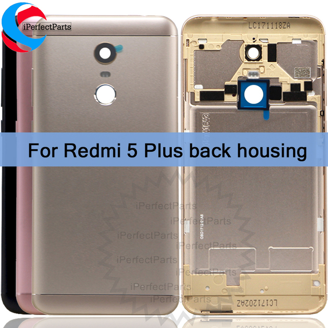 pretty nice ef810 971a7 US $12.7 |For Xiaomi Redmi 5 Plus Back Housing Cover,Replacement Aluminum  Back Battery Case With Side Buttons/Lens Glass redmi 5plus+tools-in Mobile  ...