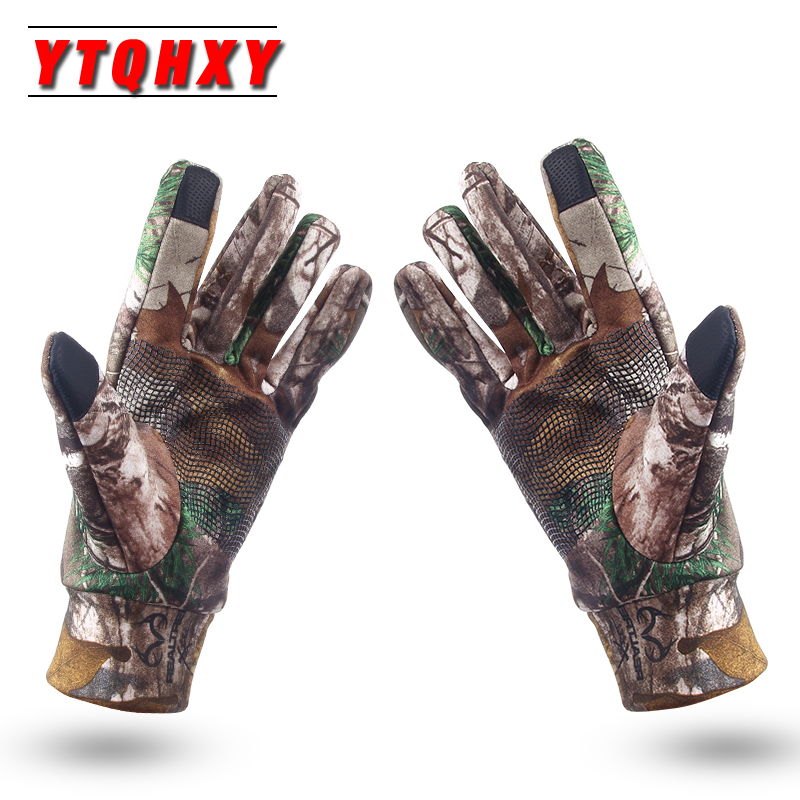 Fishing Gloves Anti-Slip Keep Warm Touch Screen Hunting Camping Cycling Camouflage Outdoor Sport Fishing Equipment WQ460