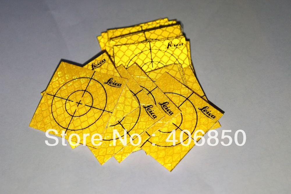 40pcs Yellow Reflector Sheet 40 x 40 mm Reflective Tape Target for Total Station ...