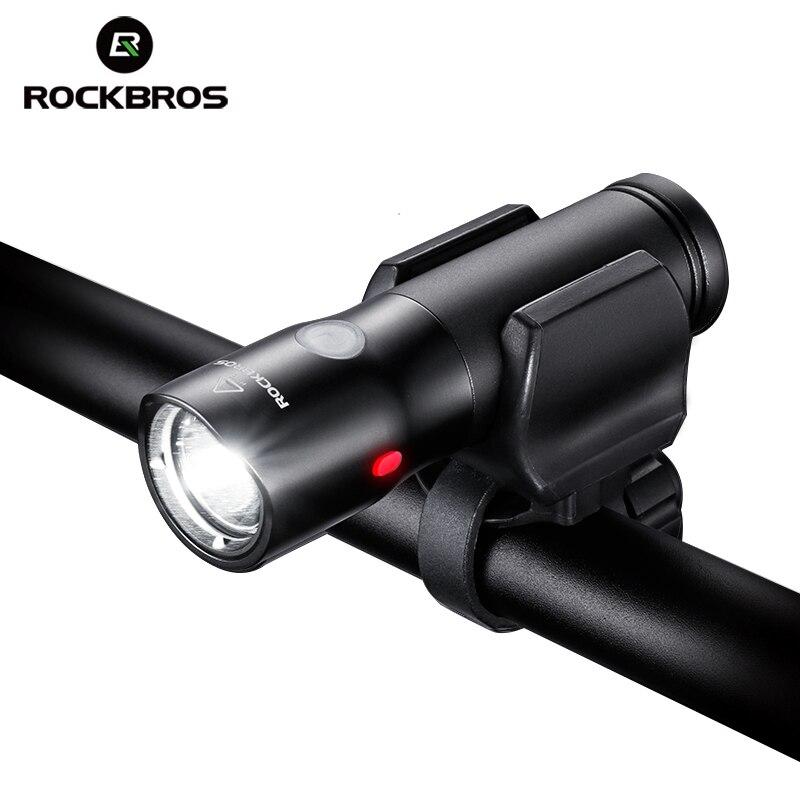 ROCKBROS Bicycle Front Light Power Bank Waterproof USB Rechargeable Bike Lamp Side Warning Flashlight 700 Lumen 2000mAh 5 Modes