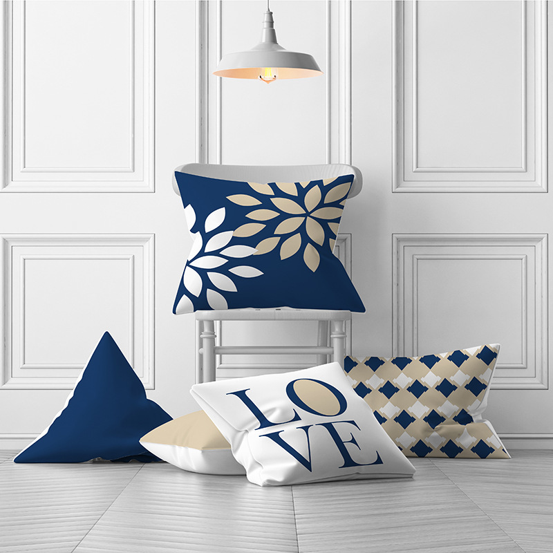 Velvet Cushion Cover Throw Pillow Covers Your Home Decoration Pillow Cases 45x45 Bed Decorative Cushions Cover For Sofa Blue