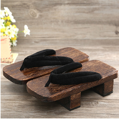 new Anime cosplay slippers shoes A wooden-soled shoe worn by the Japanese geta Hibiscus socks womens shoes Japanese Clogs Shoes