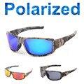 2016 Nuevo Deporte Al Aire Libre de Conducción Gafas de Sol la Pesca Camuflaje Marco Polarizado Gafas de Sol Hombres Mujeres Marca Diseñador Gafas de Sol