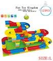 2016 hot new rail blocos bola rolando como Marbulous Marble Run (123 peças) Kit De Construção Engraçado Brinquedos
