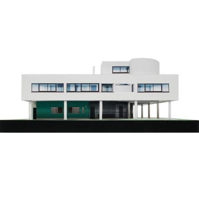 Papier typu kraft Model Le Corbusier willa Savoye 3D budynek architektoniczny DIY zabawki edukacyjne ręcznie puzzle dla dorosłych gry