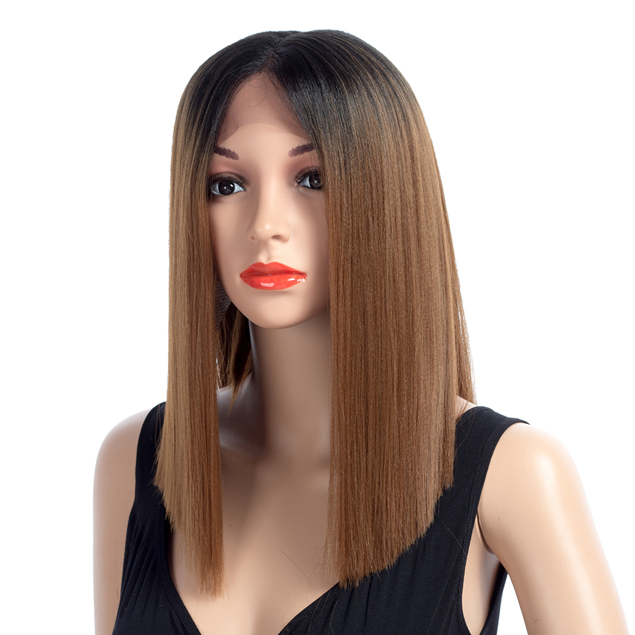 XCCOCO Synthetic Lace Front Wig for Women Straight Heat Resistant Fiber Hair Middle Part 150% Density