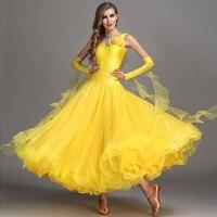 Diamond Ball Gown Ballroom Dresses Latin Women International Standard Dance Dress For Ballroom Dancing Rose Ladies