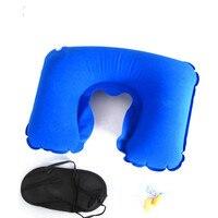 3 pçs portátil montanhismo acampamento viagem inflável travesseiro eyewear à prova de som tampões de ouvido caminhadas sono