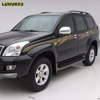 Luhuezu ABS Chrome Car Side Mirror Cover For Toyota Land Cruiser Prado 2003 2009 FJ 120 Accessories