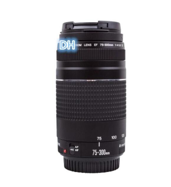 96% NOUVEAU 75-300mm caméra lentille EF 75-300mm F/4-5.6 III Téléobjectif pour Canon 1300D 600D 700D 750D 760D 60D 70D 80D 7D 6D T