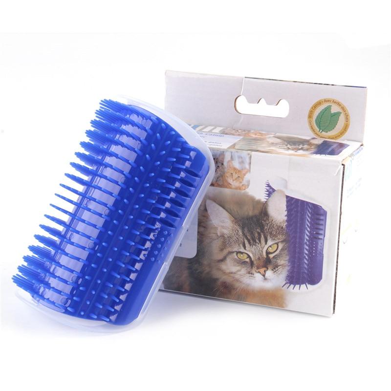 Kočky doplňky Pet Corner Masážní stroj Praktické plastové kočky kartáč kousnutí s kočkou Pet produkty Pet hračky pro kočičí kartáč hřeben