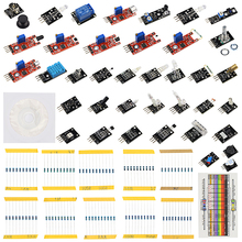 Buy online Raspberry Pi 3 Sensor Kit 37 in 1 set 37 kind of Sensors + 100 pcs Resistor kit for Arduino UNO R3 + Learning CD + Retail Box
