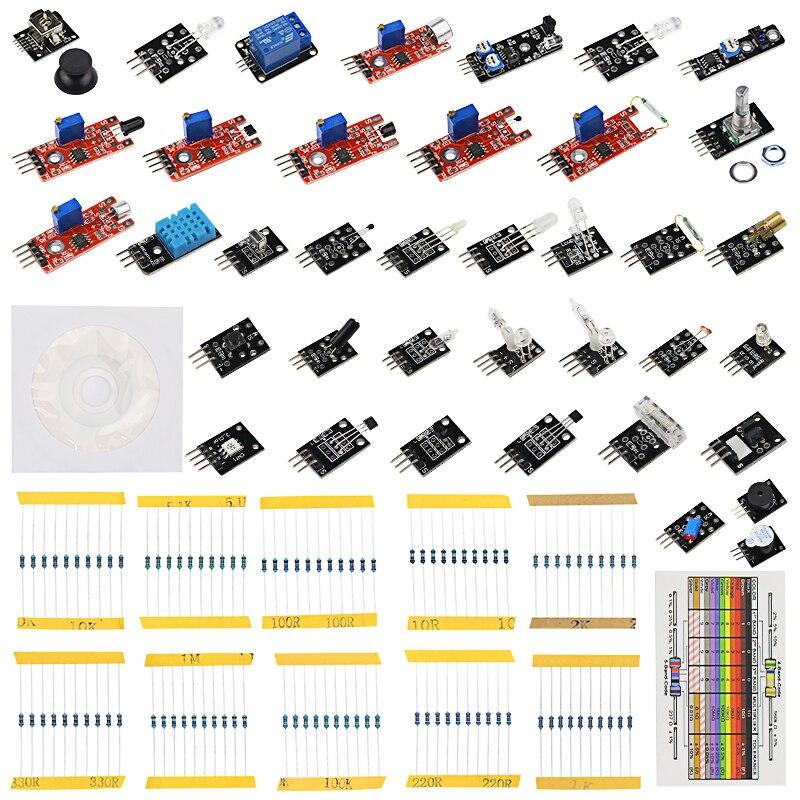 Raspberry Pi 3 B+ Sensor Kit 37 in 1 set 37 kind of Sensors + 100 pcs Resistor for for UNO R3 + Learning CD + Retail Box сборник 100 best of rock cd