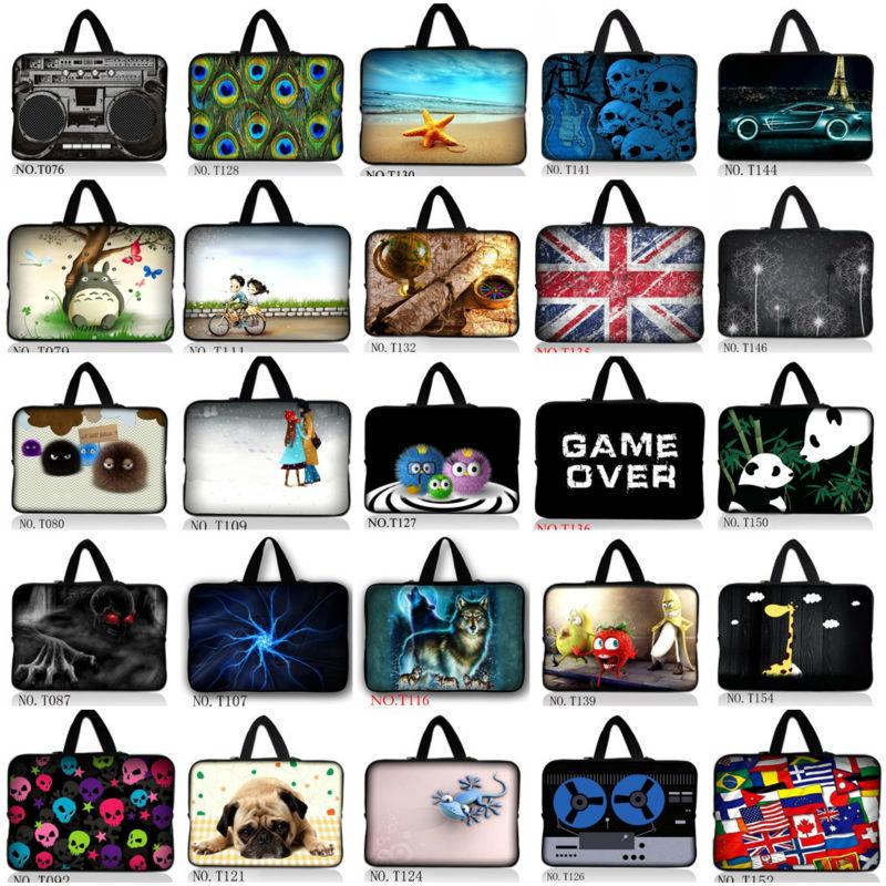 Many Designs 7 9.7 10.6 11.6 15.6 10 12 13 14 15 17 Laptop Tablet Sleeve Case Bag Pouch Soft Neoprene Bag