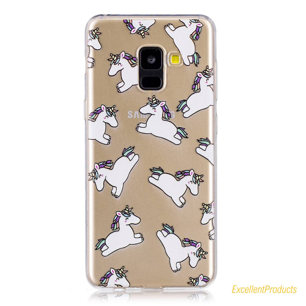 For Samsung A7 2018 phone case conque etui caso capa Lovely Stylish Printing Soft Silicone TPU cover For Samsung A7 2018 cases