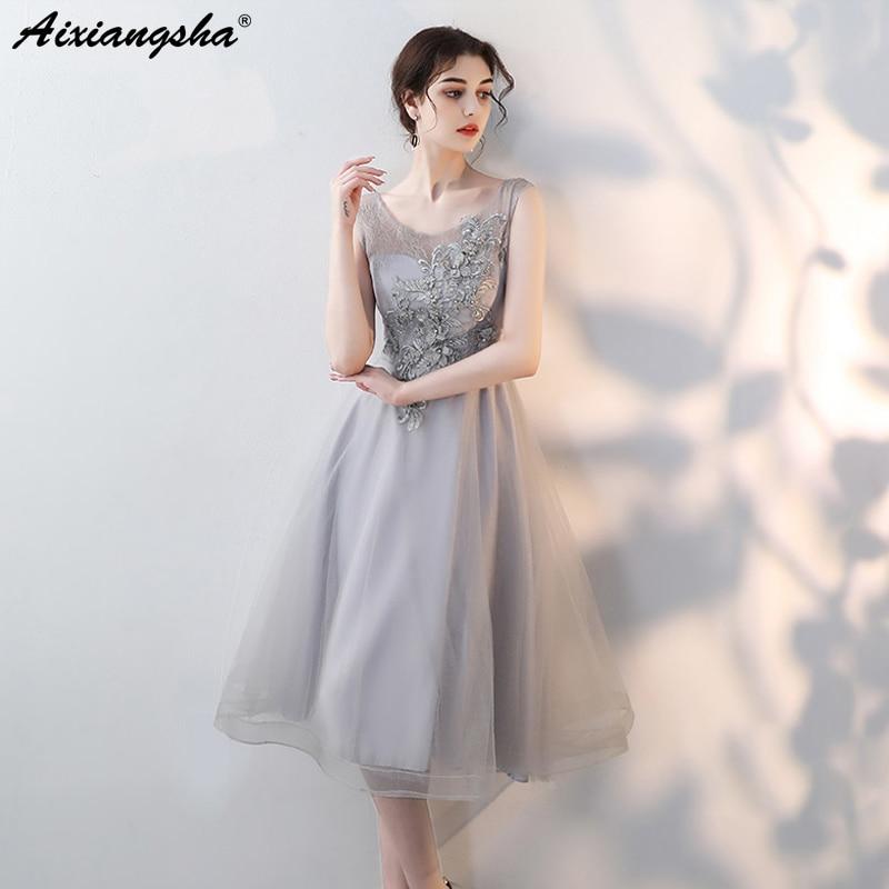 2018 Bidesmaid Dresses Sleeveless Bridesmaid Applique Elegant Wedding Party Dress robe demoiselle dhonneur Wedding Guest Dress