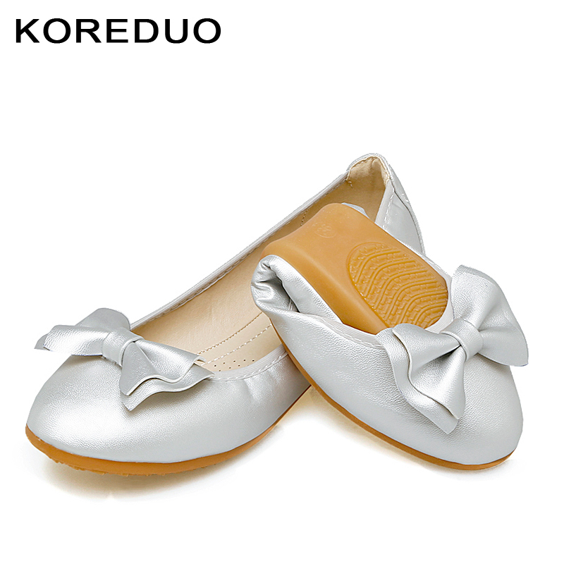 KOREDUO Round toe Flat heel Shoes Woman Butterfly Single Shoes Fashion Slip On Loafers Women Flats Casual shoes size 34-45 mw 2017 fashion printing pointed toe loafers women flat heel shoes casual shoe woman plus size 33 43