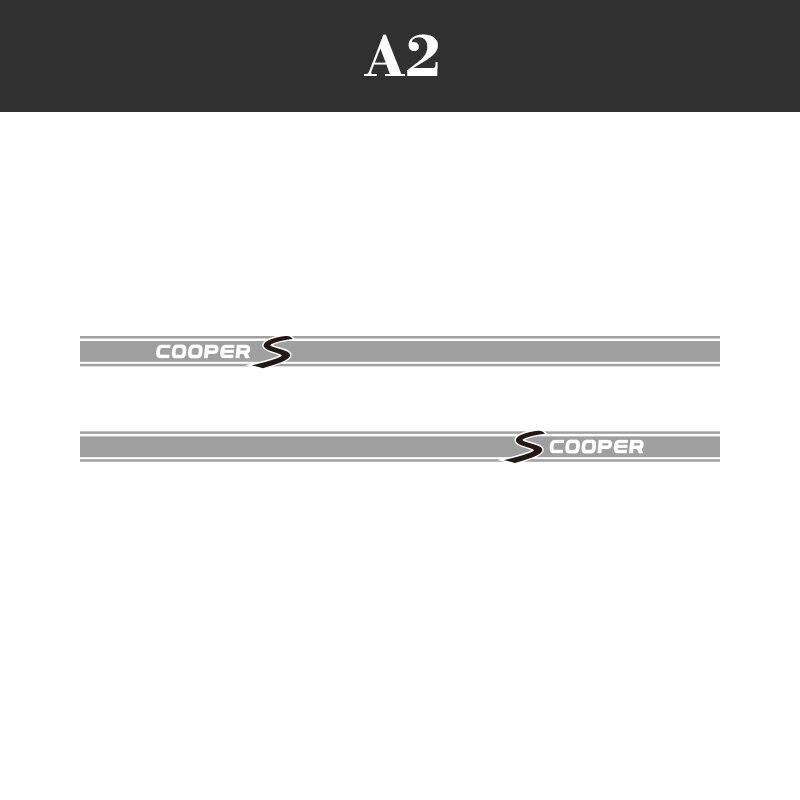 1 пара, 2 шт., виниловые автомобильные наклейки на боковые стороны юбки, автомобильные наклейки для BMW Mini Cooper S Countryman Seven Clubman John Paceman - Название цвета: A3