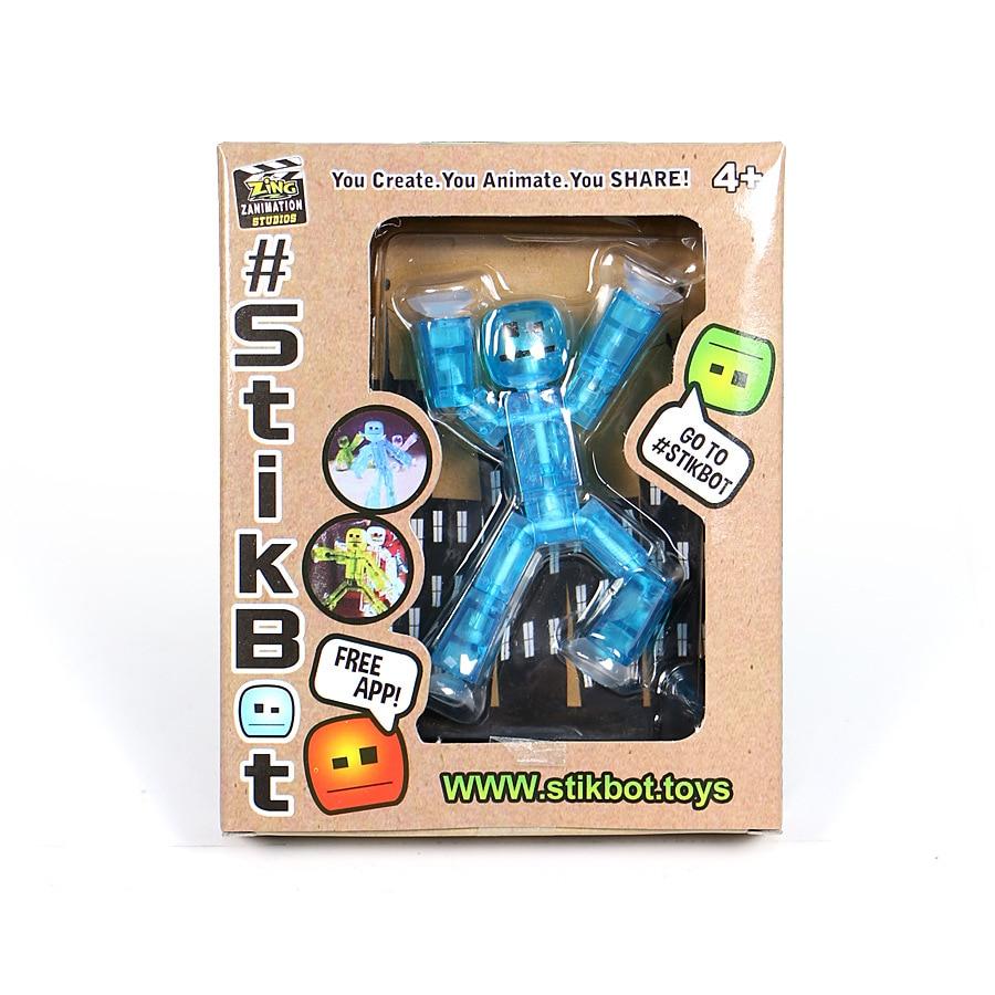 1 Piece Random Color Diy Creat Animation Film Stikbot Toys