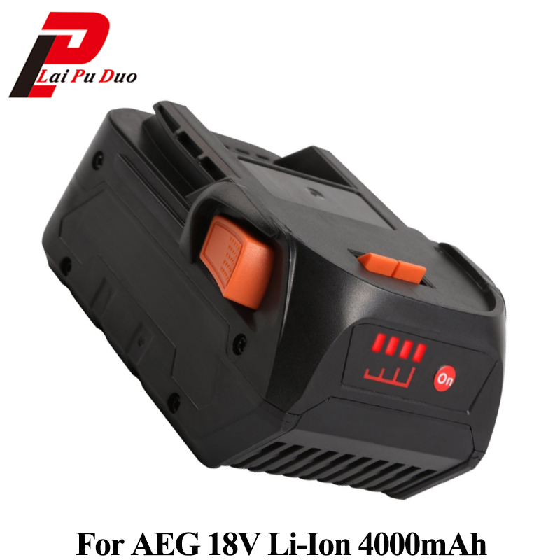 18V 4.0Ah Li-Ion Replacement Power Tool Battery for AEG Rigid BFL 18 AC840084 L1815R r840083 tool accessory electric drill li ion battery 18v 3000mah for aeg ridgid 18v 3 0ah power tool parts