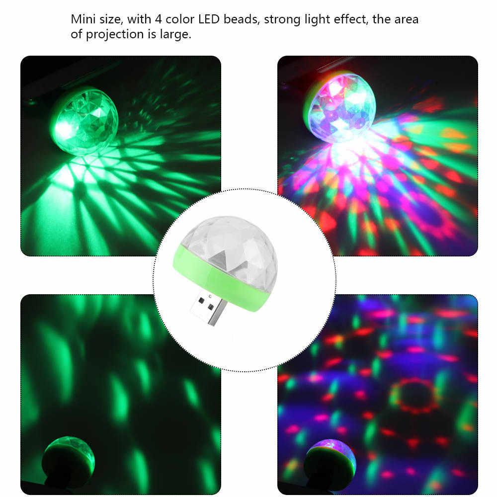 USB Mini Luci da Discoteca, Portatile di Casa Del Partito Della Luce, DC 5V USB Powered Led Della Fase Del Partito di Sfera del DJ di Illuminazione, Karaoke Led Del Partito Di Natale