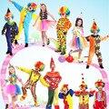 Красочные Клоун Костюм Смешно Маг Костюм Для Детей Косплей Реквизит Сцена Новый Год
