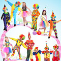 Colorful Clown Costume Funny Magician Costume For Children Cosplay Props Stage Performance New Year Party