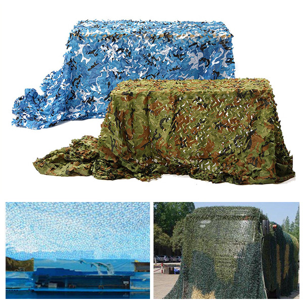 Excellent 5x2m Outdoor Camo Net Military Camouflage Netting Mesh Games Hide Camouflage Net Hunting Camping Net Garden Car Cover