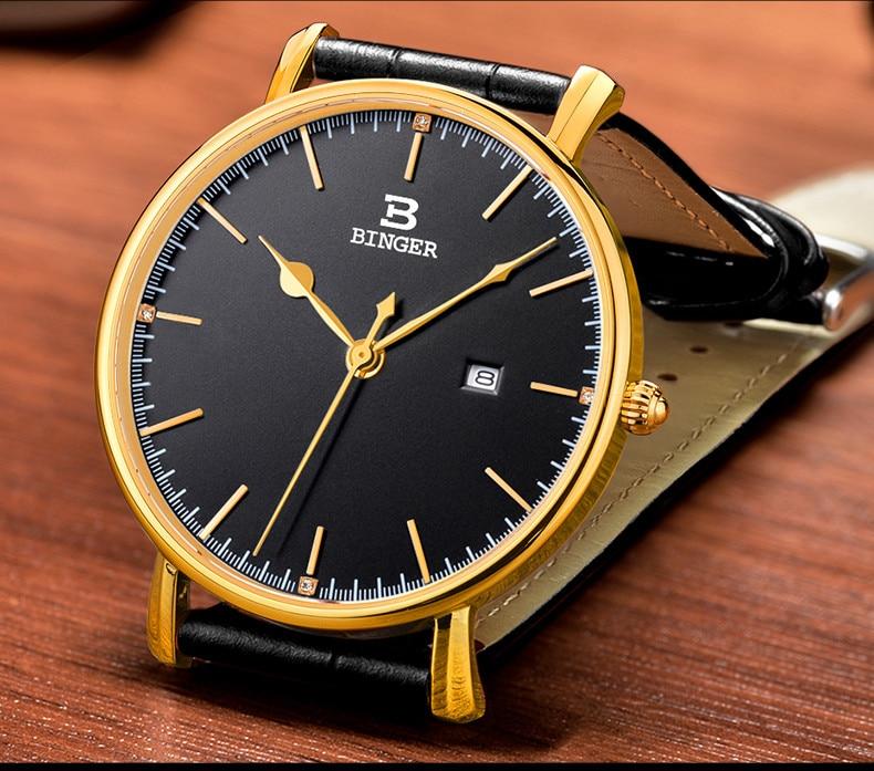 Relógio Ultra-fino Amantes de Calendário Relógio de