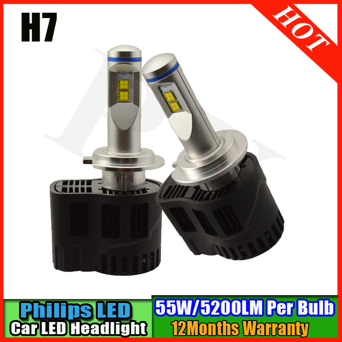 Top quality 110W H7 LED 10400Lm P6 LumiLEDs Car Bulb Auto Lamp Headlight Fog Light Conversion Kit Repl. Halogen Xenon HID 12v led light auto headlamp h1 h3 h7 9005 9004 9007 h4 h15 car led headlight bulb 30w high single dual beam white light