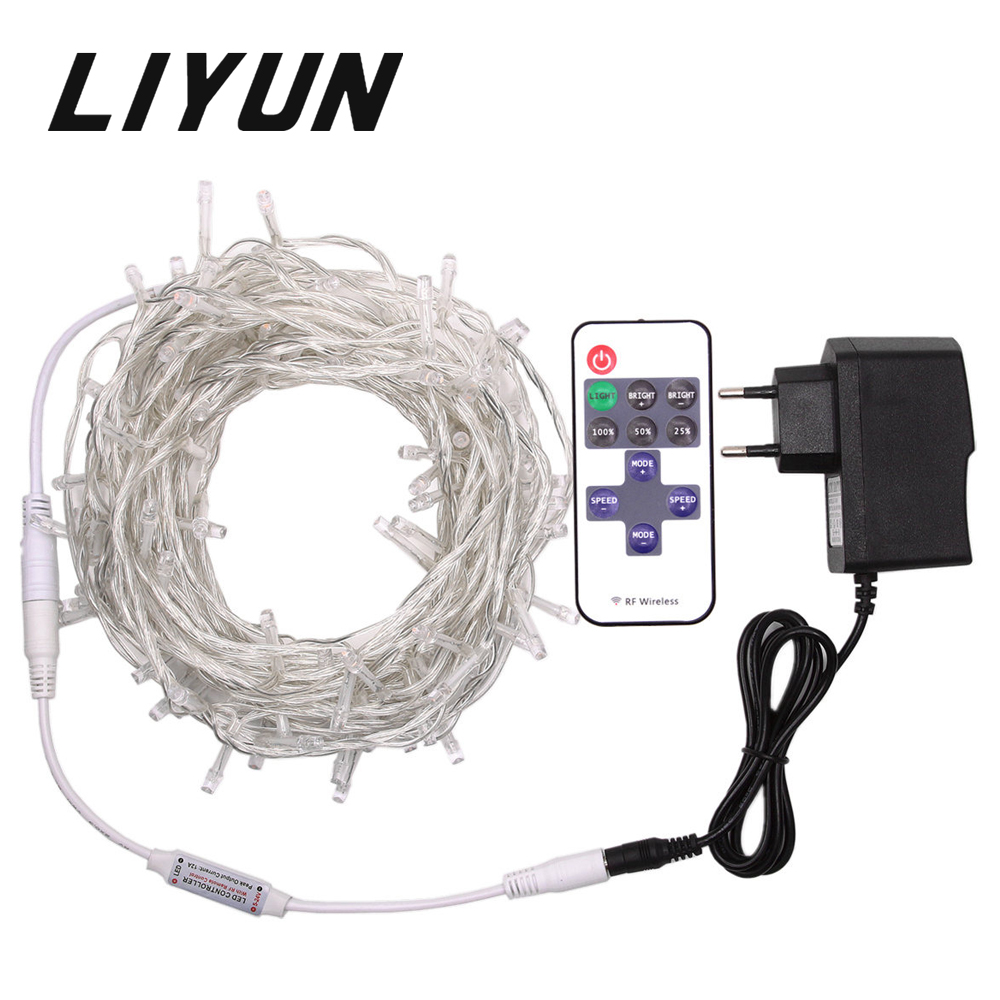 Solar String Lights 10m 20m Copper Wire Outdoor Garden Light Wiring Fairy Led Christmas Dc12v Garland Waterproof Lamp