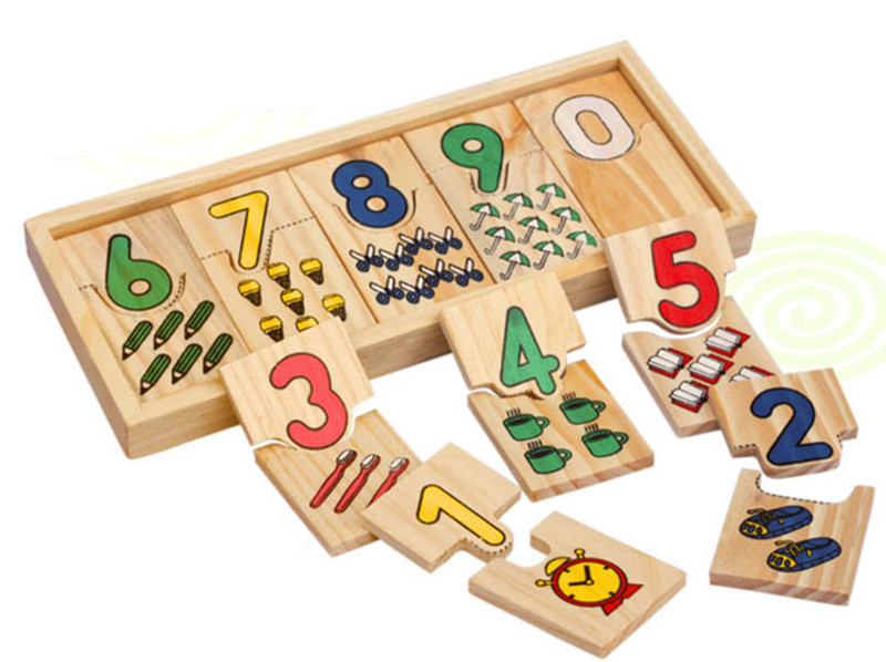 New wooden toy  Children Math blocks Baby educational Free shipping
