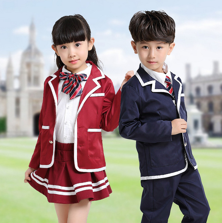 Children Navy Blue Red Student Korean Japanese School -3329