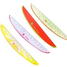 15Cm Cute Kawaii Plastic Ruler Creative Fruit Ruler for Kids Student Novelty Item Korean Stationery panda ruler 15cm