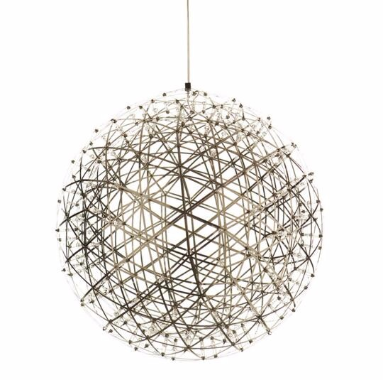 Modern Creative Firework Led Pendant Lights Stainless Steel Large Ball Lighting Fixture Hanging Lamps For Hotel Hall Decoration In From