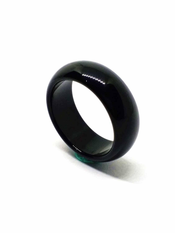บุรุษหยกธรรมชาติ Vintage สีดำแหวนทับทิมหินผู้หญิงอัญมณีเครื่องประดับวง 19 MM Aneis Masculino งานแต่งงานของขวัญ