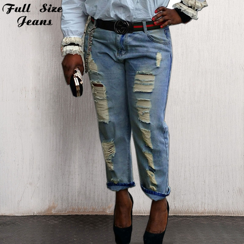 Online Buy Wholesale loose ripped jeans for ladies from China ...