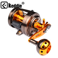 Fishing Reels Cast drum Brown Alloy 12BB Casting Reel Aluminum+Stainless Steel Spinning Wheel Pesca CA300 CA301