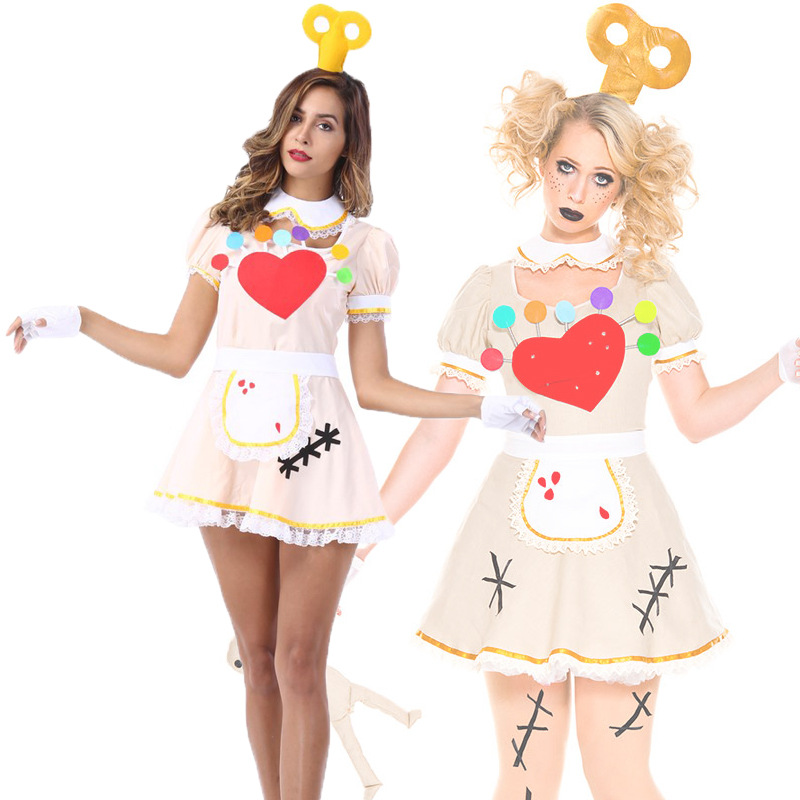 Women Cute Maid Costume Cosplay Adult Ladies Halloween Lovely Waiter Clothing Fantasia Servant Uniform Carnival Fancy Dress Up
