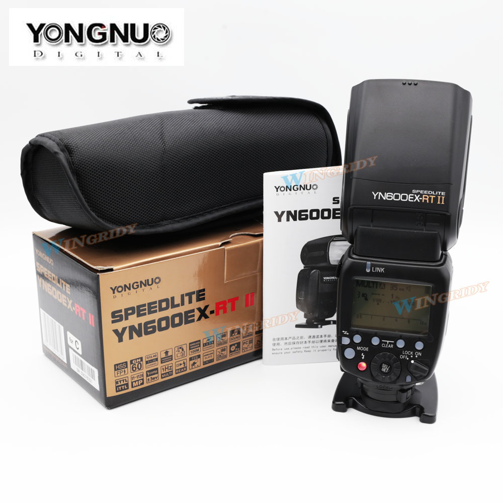 YONGNUO YN600EX-RT II 2.4G Wireless HSS 1/8000s Master TTL Flash Speedlite for Canon 60D 650D Camera as 600EX-RT YN-600EX RT II yongnuo yn600ex rt ii flash speedlite 2 4g wireless hss 1 8000s master ttl speedlight for canon dslr as 600ex rt yn600ex rt ii